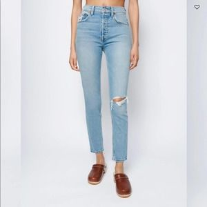 Re/done high rise 90s high rise straight jean 27